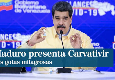 Мадуро представя медикамент, който убива К-вид на 100% с 10 капки на езика